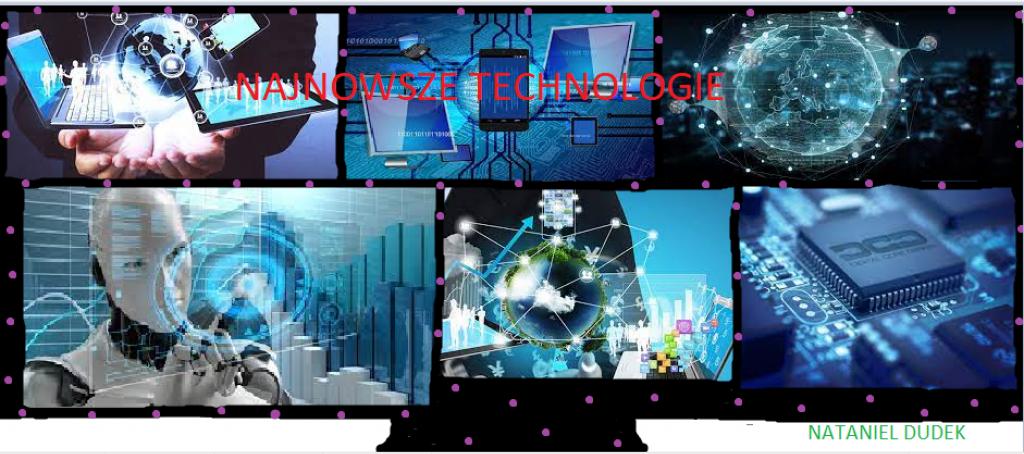 plakat o nowych technologiach