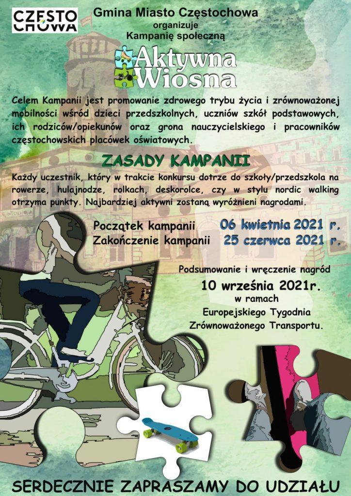 plakat kampanii aktywna wiosna