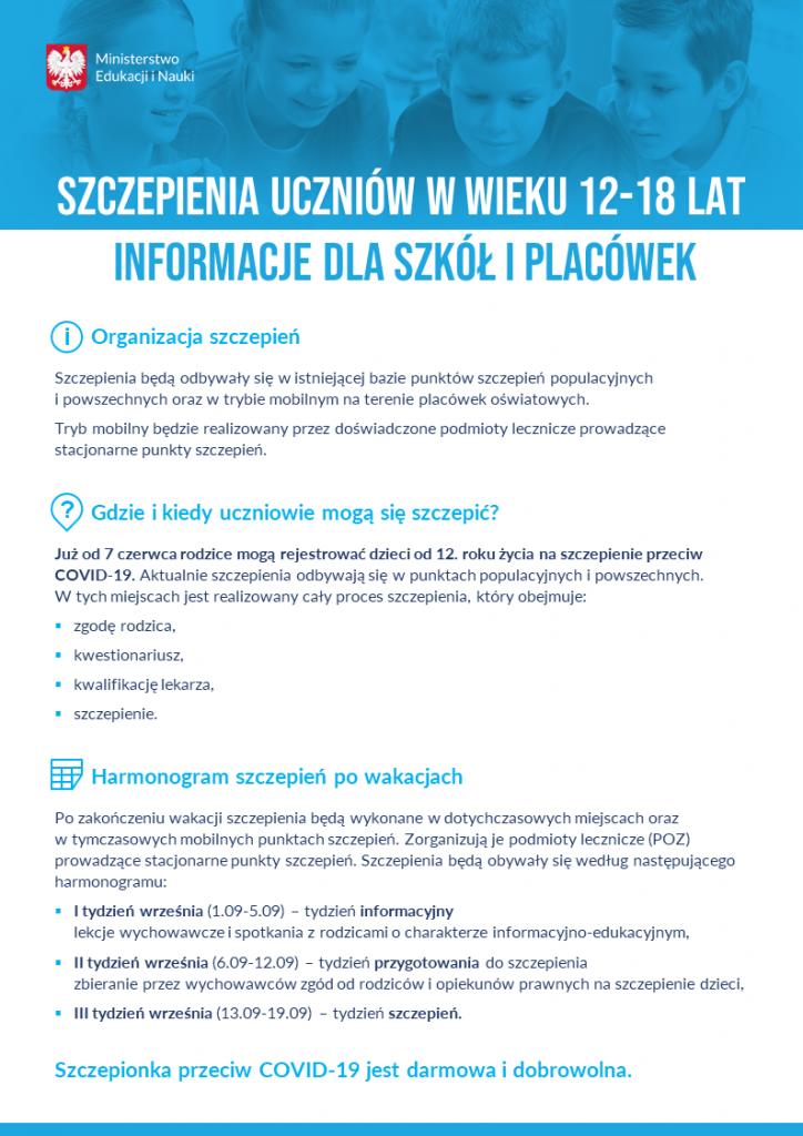 plakat o szczepieniach